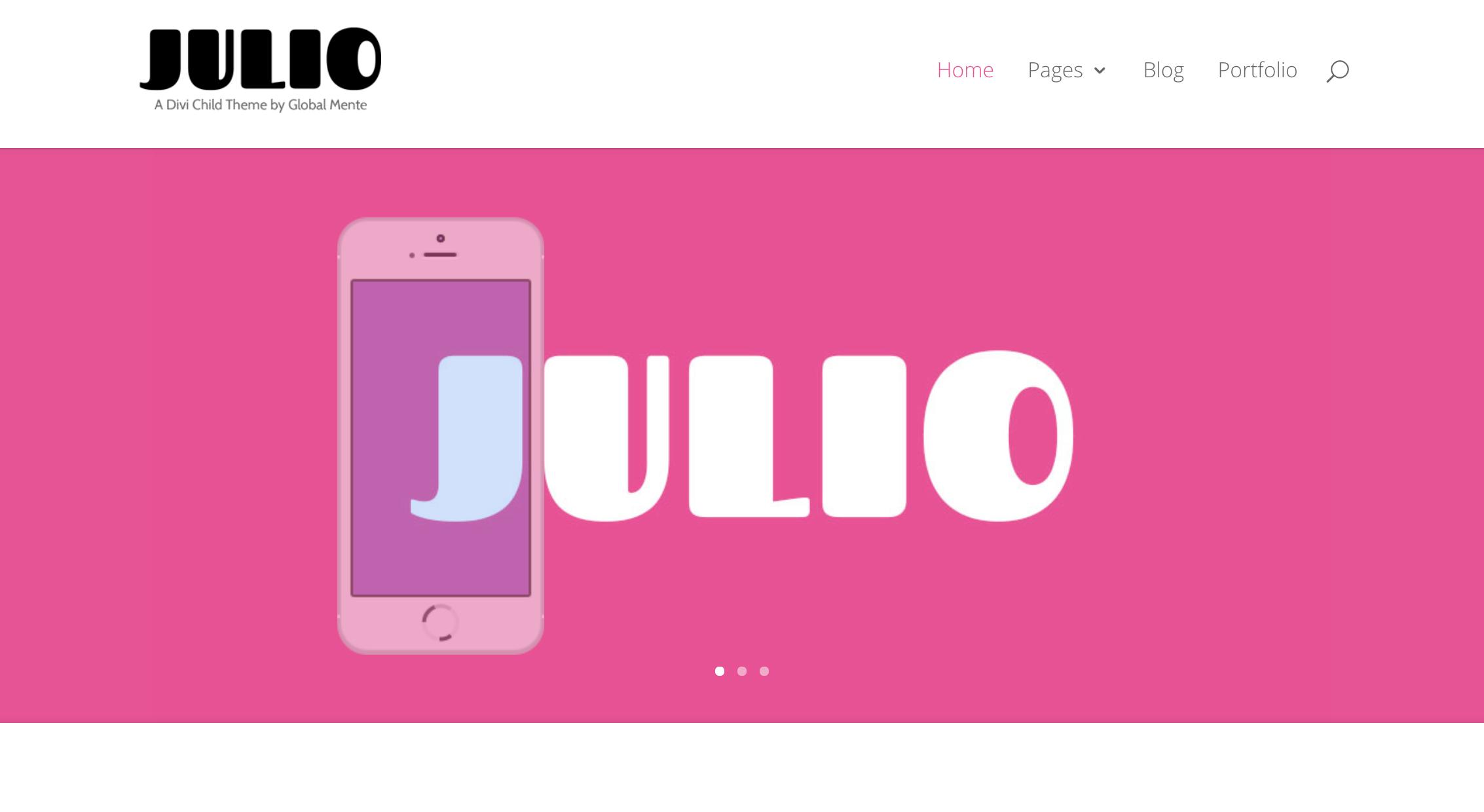Divi child theme Julio